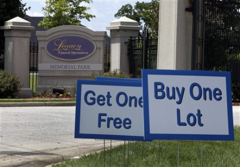 Image: Grave sale