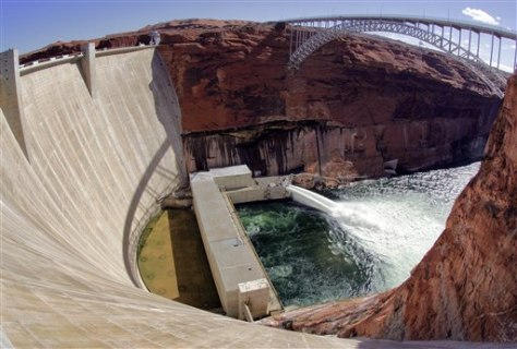 IMAGE: WATER RELEASED FROM DAM