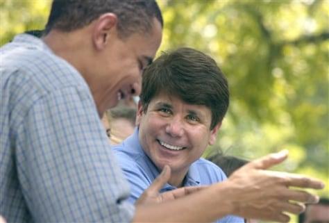 Image: Barack Obama, Rod Blagojevich