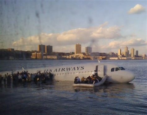 Image: Ferry passenger's photograph of plane