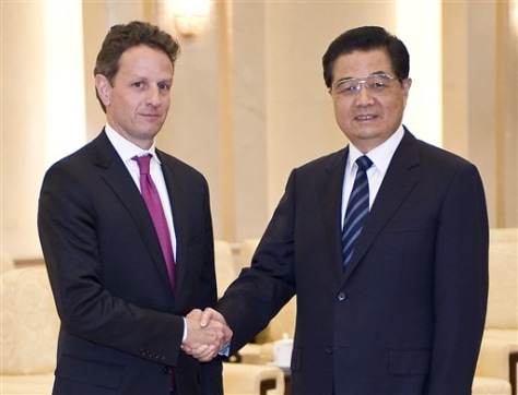 CORRECTION China Geithner