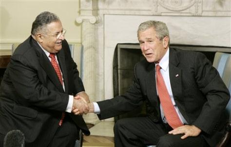 President Bush, Iraq President Jalal Talabani