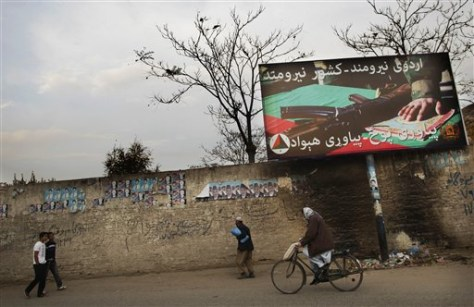Image: Army poster in Kabul