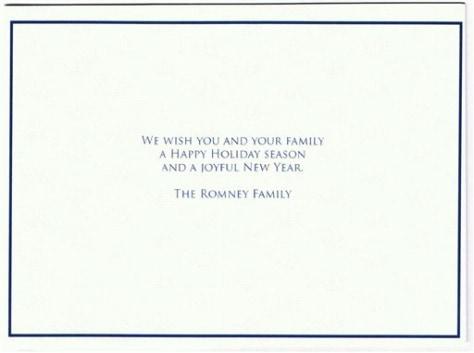 Image: Bogus Romney card