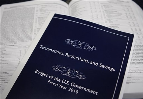 Image: Federal budget books