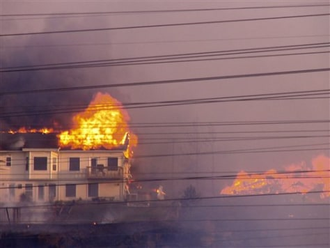 Image: Homes on fire