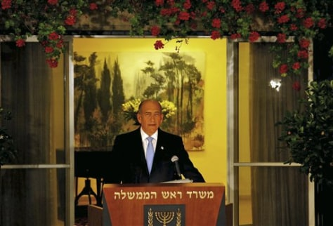 Images: Israeli Prime Minister Ehud Olmert
