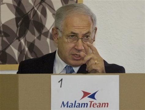 Image: Israeli Likud leader Benjamin Netanyahu