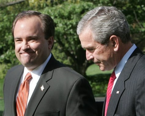 IMAGE: Scott McClellan and George Bush