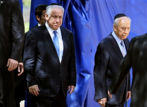 Image: Israel Prime Minister Benjamin Netanyahu and President Shimon Peres