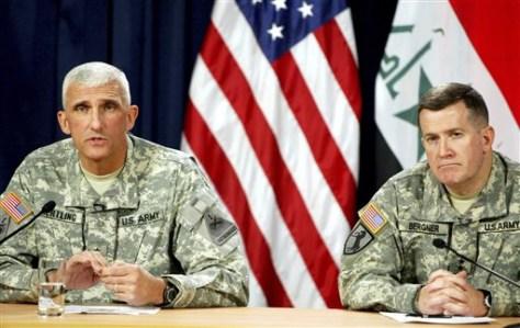 IMAGE: Maj. Gen. Mark Hertling, Maj. Gen. Kevin Bergner