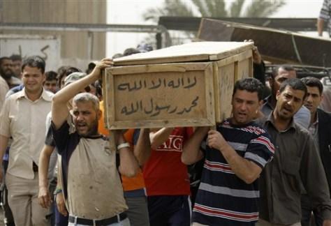 Image: Iraq bombing victim
