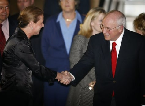 Image: Tzipi Livni and Dick Cheney