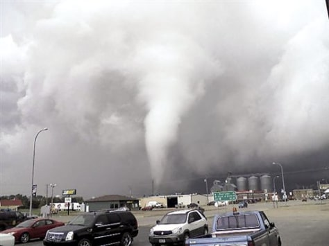 IMAGE: TORNADO IN PARKING LOT