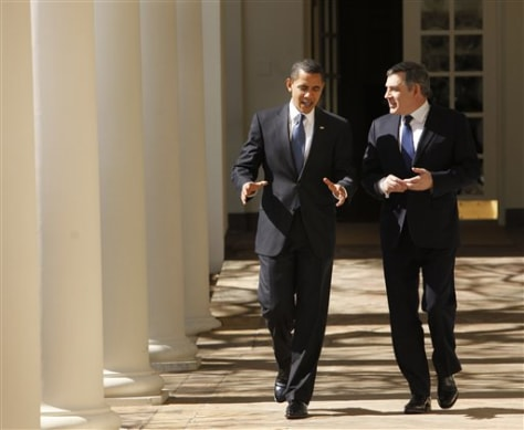 Image: President Barack Obama with British Prime Minister Gordon Brown