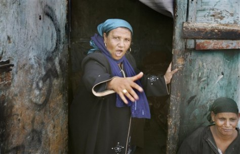 Image: Angry Egyptian woman
