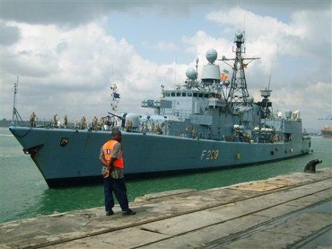 Image: Germannavy frigate Rheinland-Pfalz