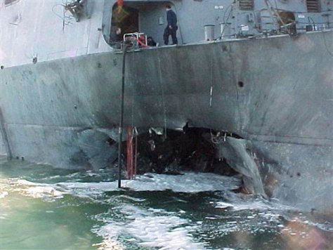 Image: Damage to the USS Cole