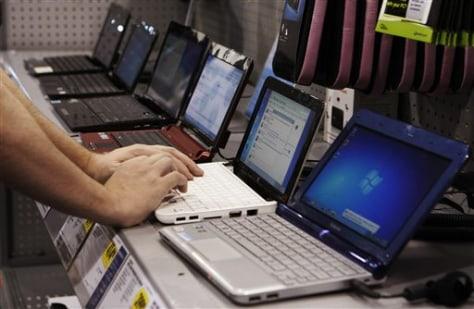 Image: Netbooks on display