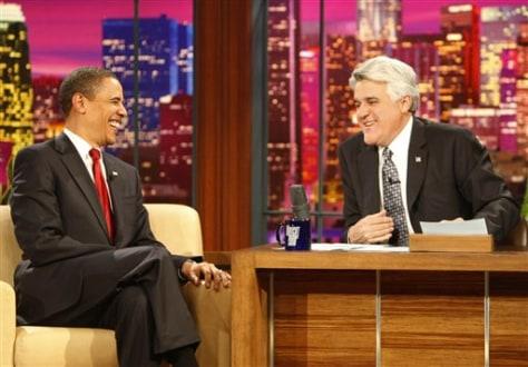 Image: Obama, Leno
