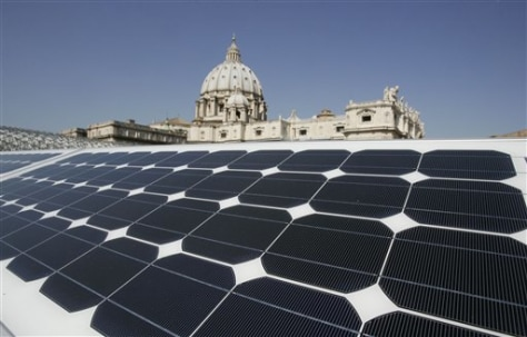 Image: Solar panetl at Vatican