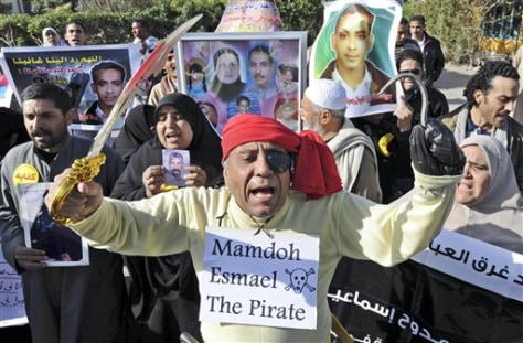 Image: Egyptian protesting ferry owner's conviction
