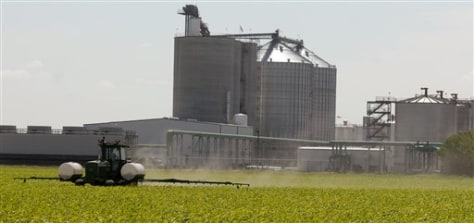 IMAGE: ETHANOL PLANT AND CORN FIELD