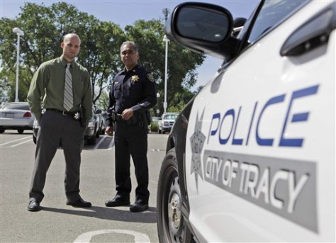 Image: Police in Tracy, Calif.