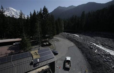 Image: Solar panels atop park building
