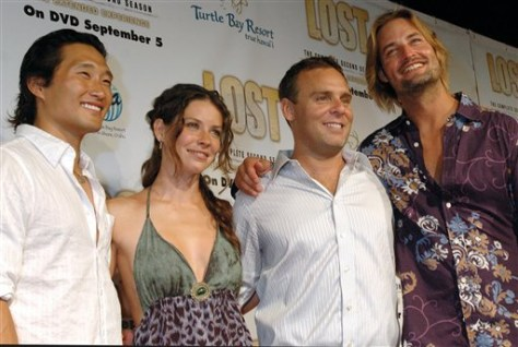 Image: 'Lost' castmembers Kim, Lilly, Holloway, Burk