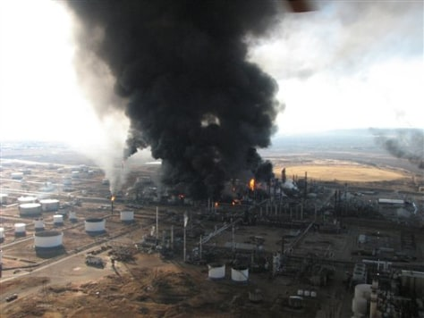 Image: Refinery explosion