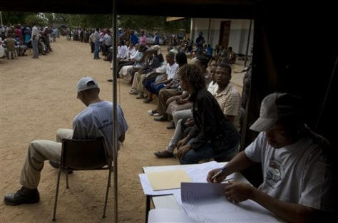 Image: Voters waiting in Botswana