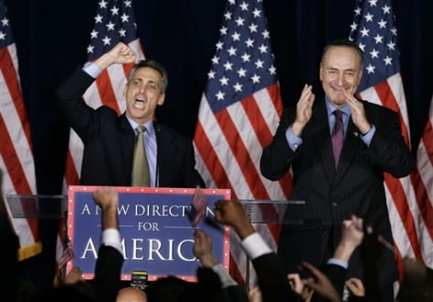 Sen. Charles Schumer, D-N.Y. and Rep. Rahm Emanuel, D-Ill.