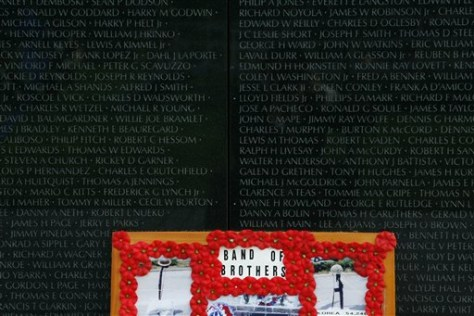 IMAGE: PLAQUE LEFT AT MEMORIAL