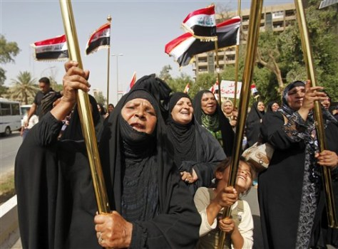 Image: Iraqis protest