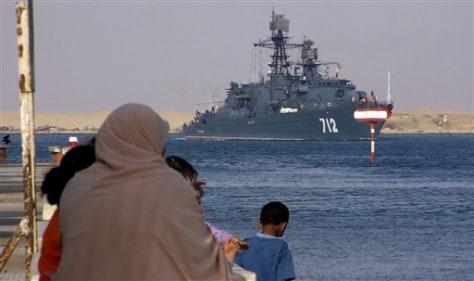 IMAGE: Russian frigate