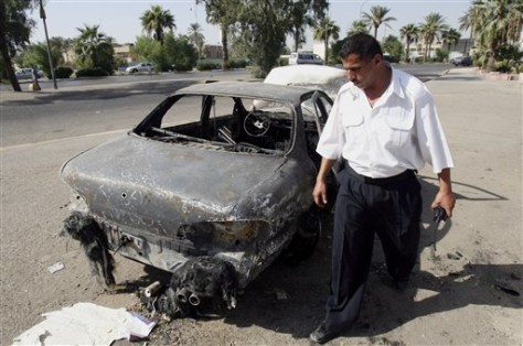 Image: Iraqi car destroyed