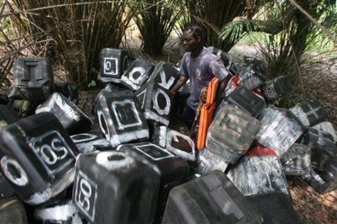 IMAGE: GAS CONTAINERS USED BY LOOTERS