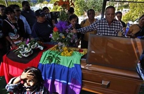 Image: Funeral of Honduran activist Walter Trochez