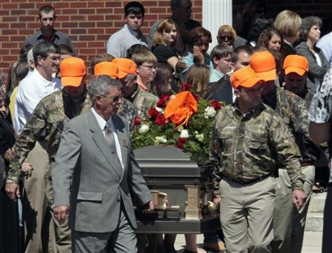 Image: Shooting victim's funeral