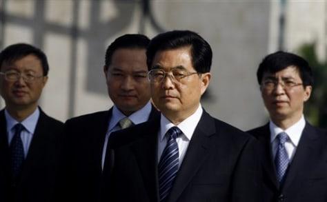 Image: China's President Hu Jintao
