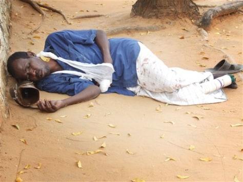 Image: A Somali man rests