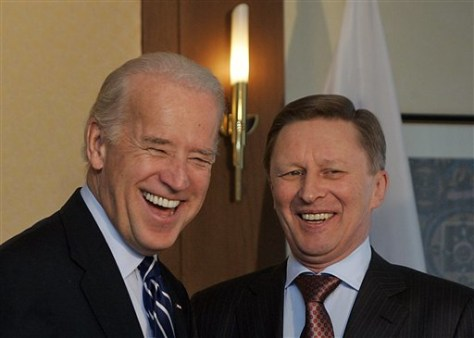 Image: Joe Biden with Sergei Ivanov