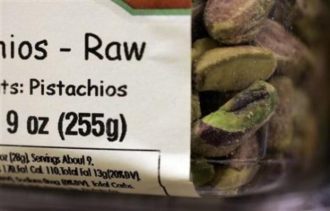 Salmonella Pistachios