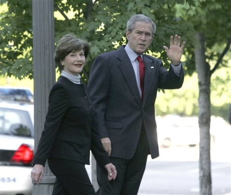 President Bush and first lady Laura Bush