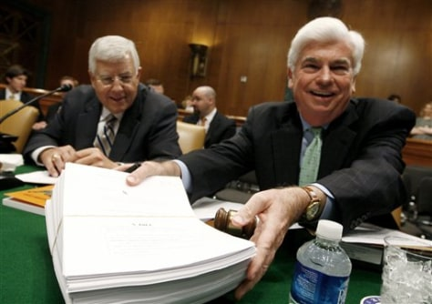 Image: Sen. Christopher Dodd, D-Conn. andSen. Mike Enzi, R-Wyo.
