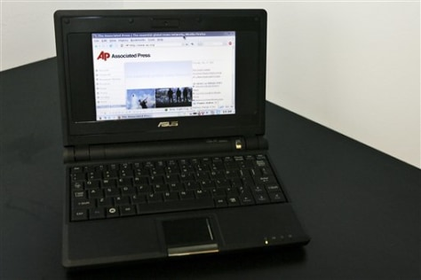Image: The EeePC laptop with Linux