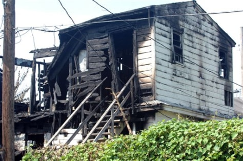 Image: Burned house