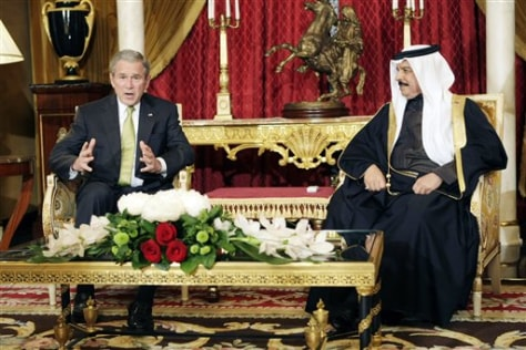 Image: President Bush with Bahrain's king