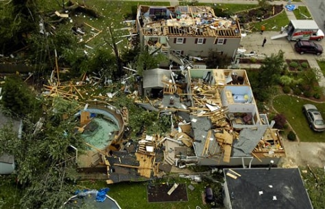 Image: Homes hit by twister